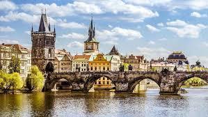 Prag i vackra augusti